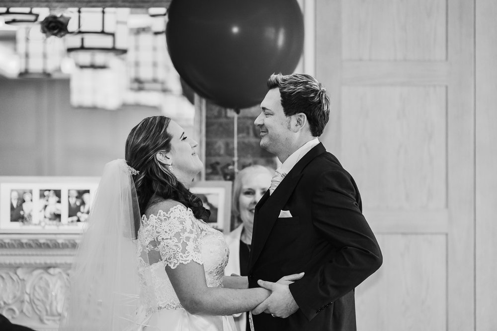 Black and white wedding photography Berkshire