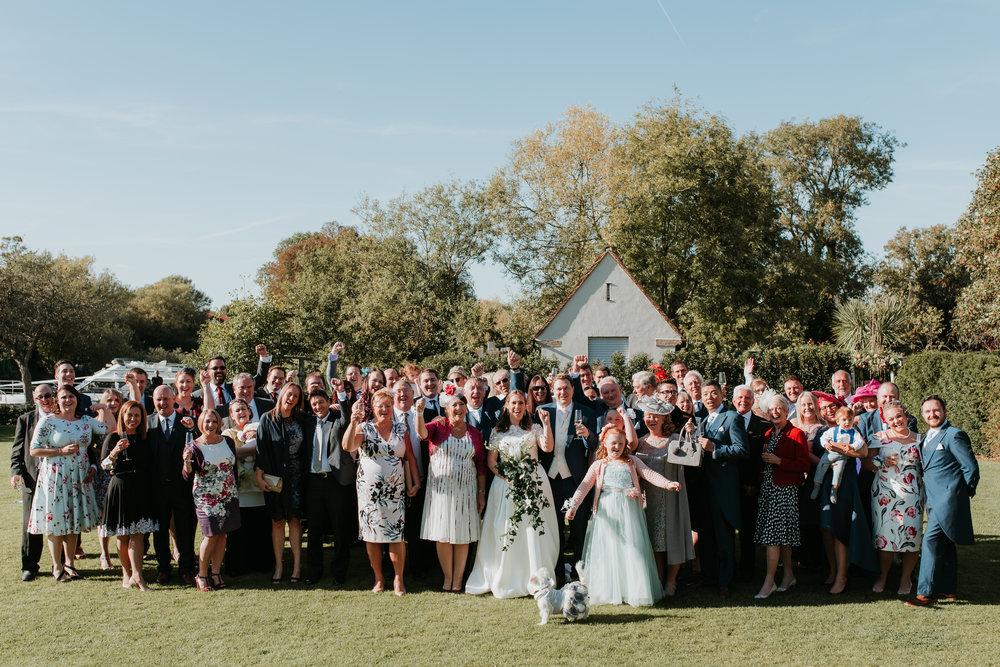 Whole wedding party photo