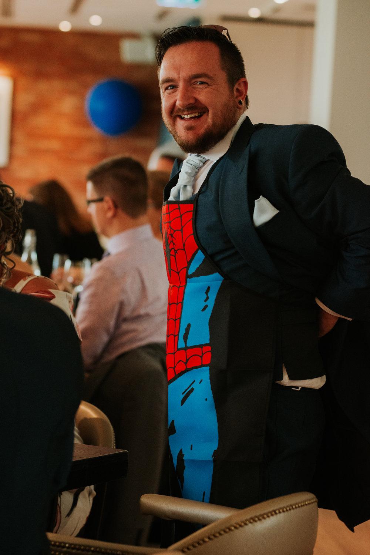 Marvel themed wedding
