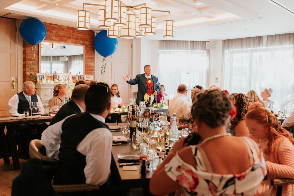 Wedding speeches at Great House Sonning