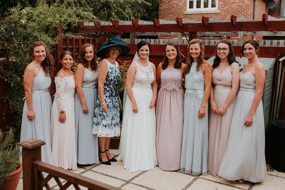 Wokingham Bride with Bridesmaids
