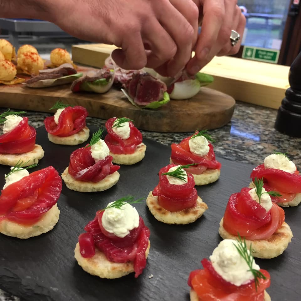 Created by  Queen and Whippet , these gin infused canapés look Devine!