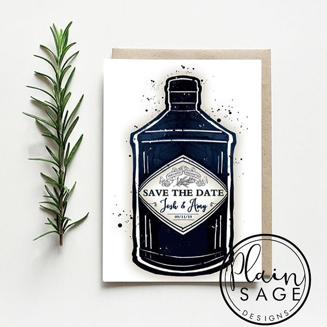 Check out this awesome design from  Plain Sage Designs  - perfect for a gin-inspired wedding!