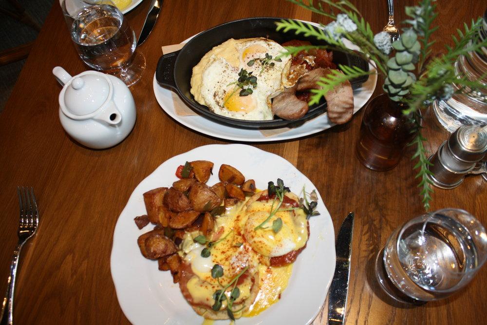 Top: American-Italian Breakfast; Bottom: House Benedict