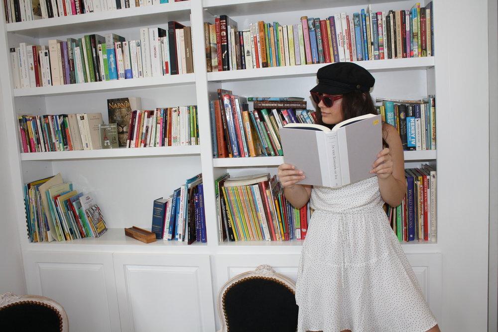 Hat: Brixton; Sunglasses: Quay;Dress: MinkPink