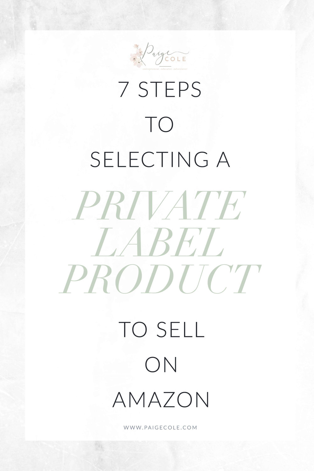 Are you looking to be a profitable seller on Amazon? Here are 7 Steps to Selecting a Private Label Product to Sell on Amazon.