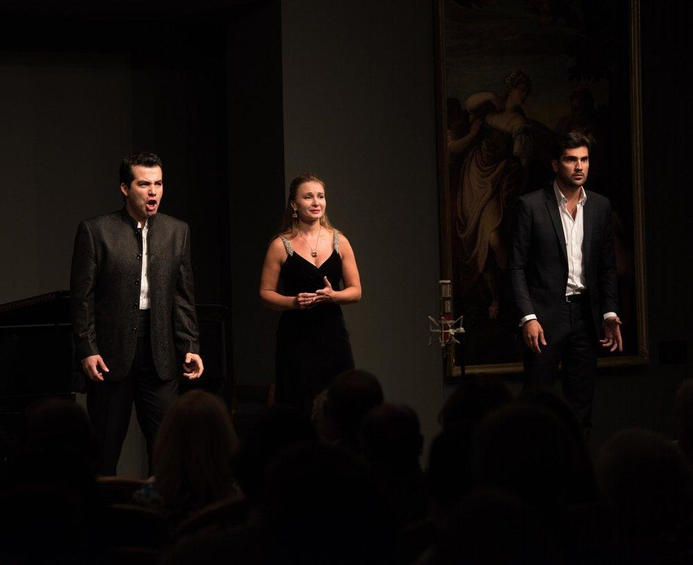 Javier Arrey, Yulia Petrachuk, Jonathan Tetelman