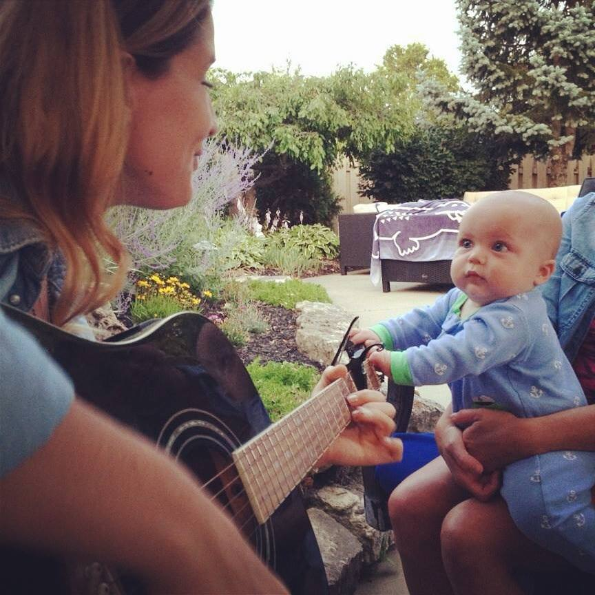 Henry Herdrich vibing with Auntie Lisa