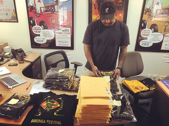 To everyone that ordered #barungafest18 shirts (they sold out in a day), thank you for your patience. They are on the way! #BarungaFestival
