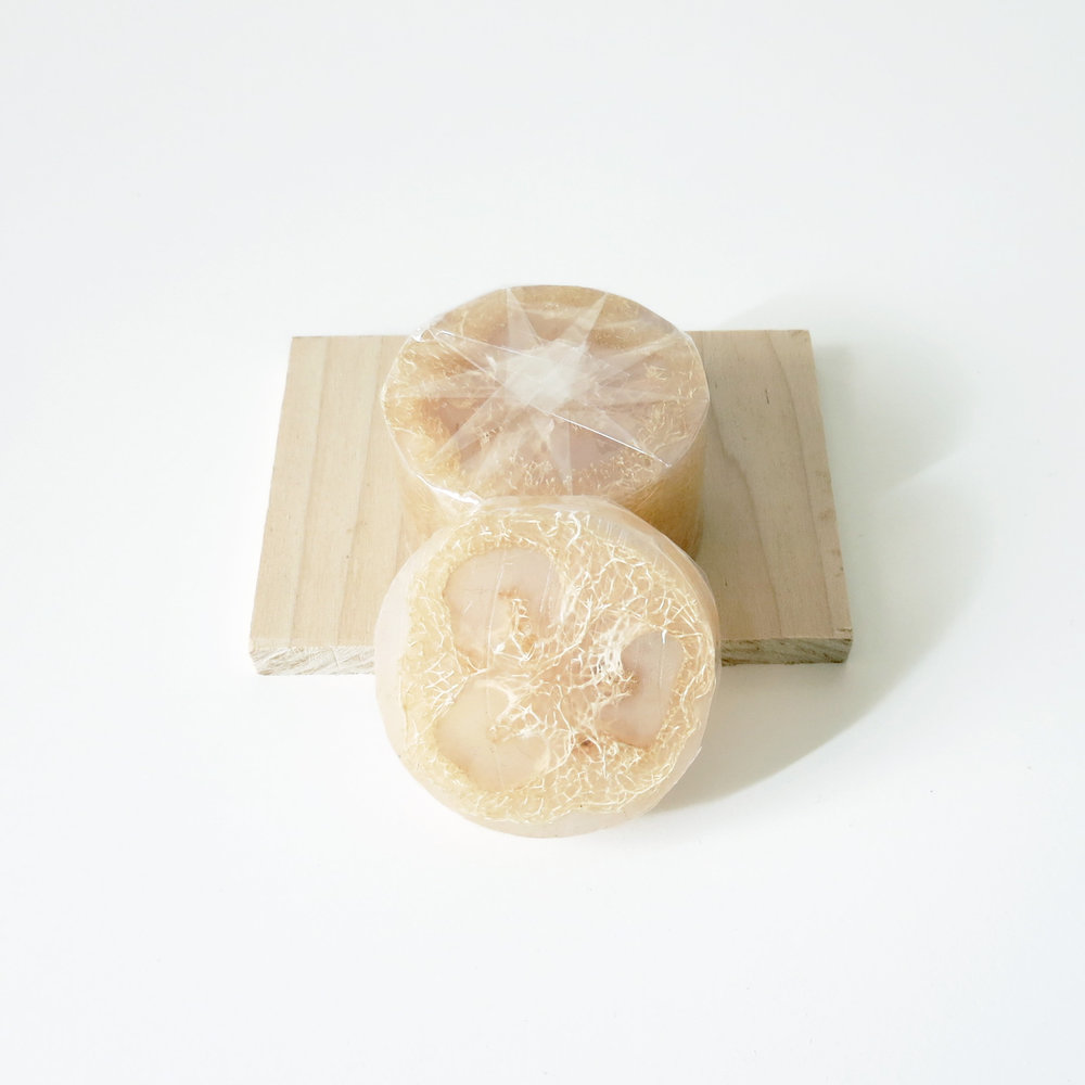 Clear Loofah Soap