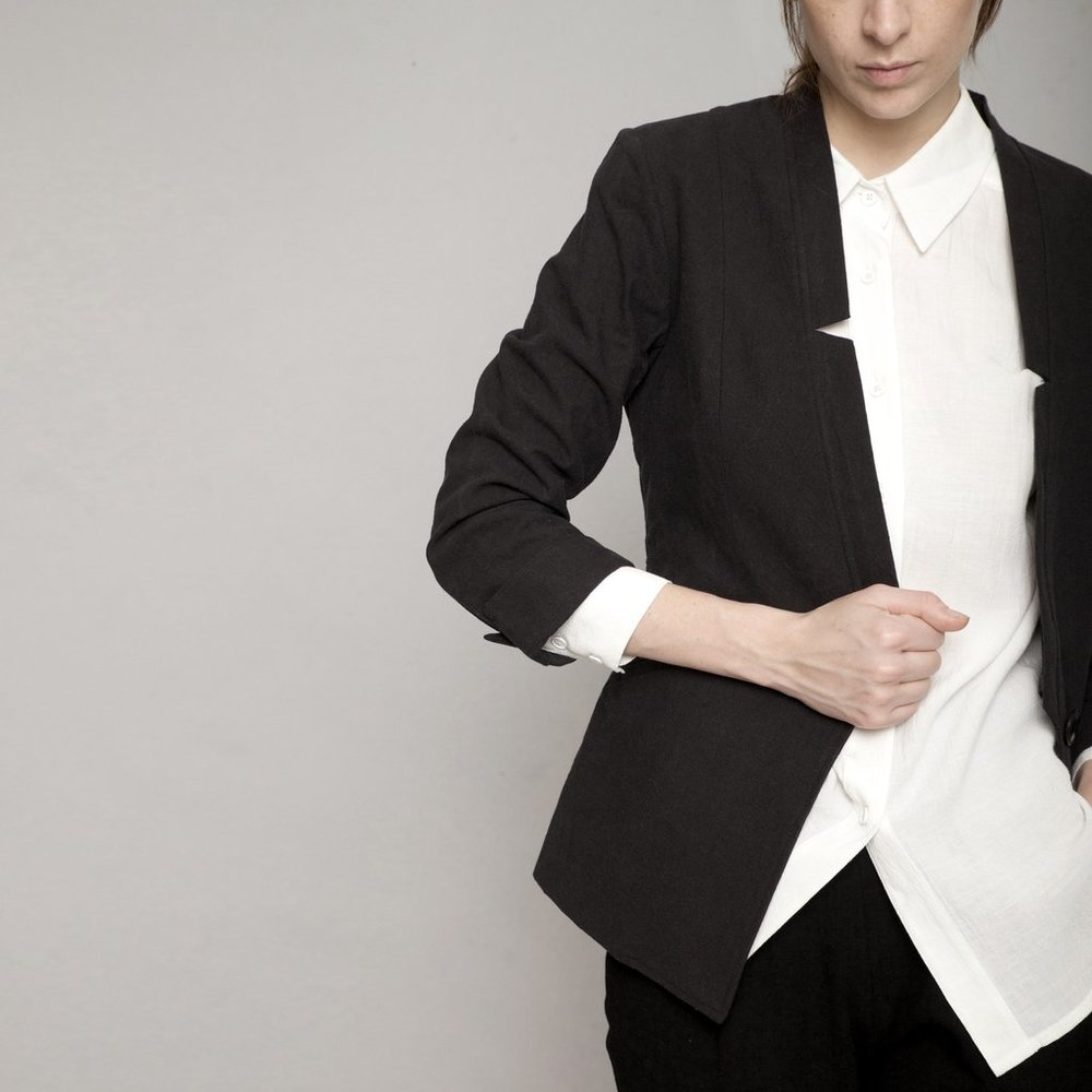 Deconstructed Blazer  in Black