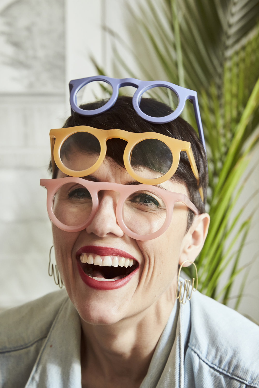 Carla Robertson modeling Lind optical frames (beautifully)