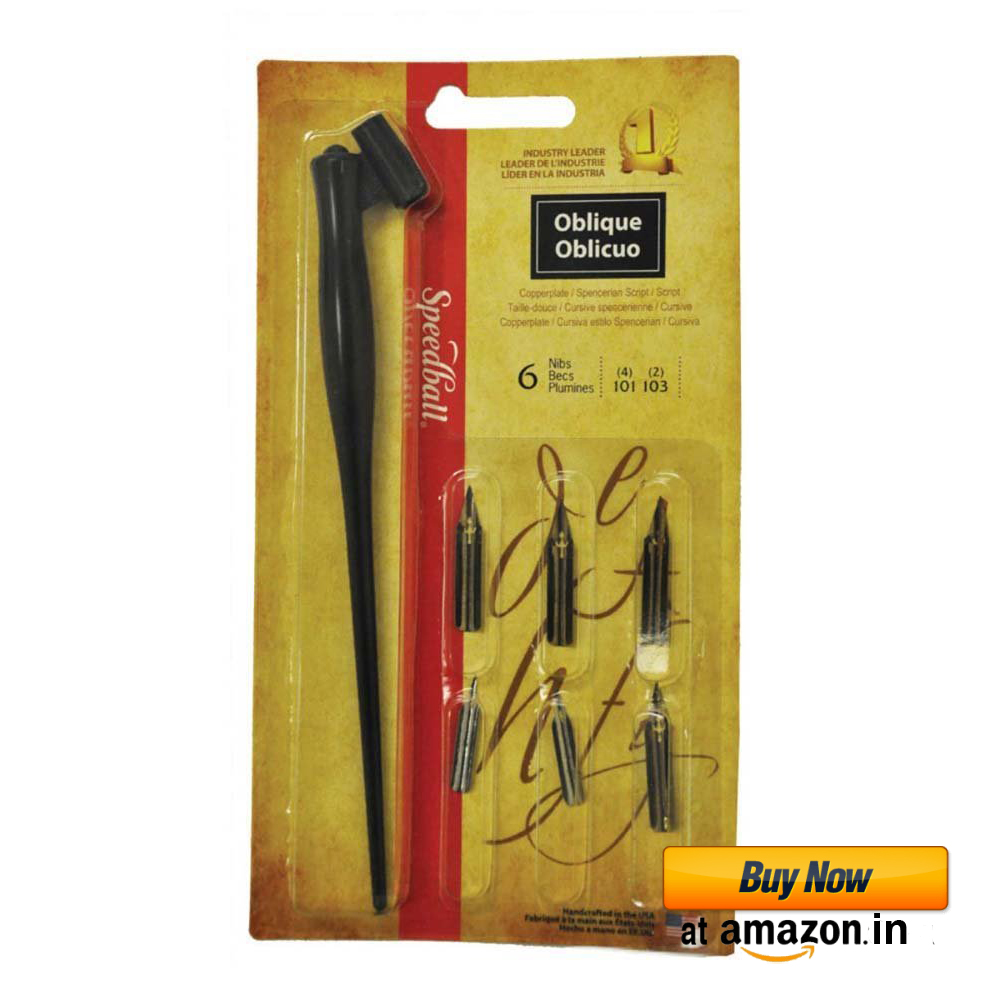 Speedball Oblique Pen Set Set Of 6