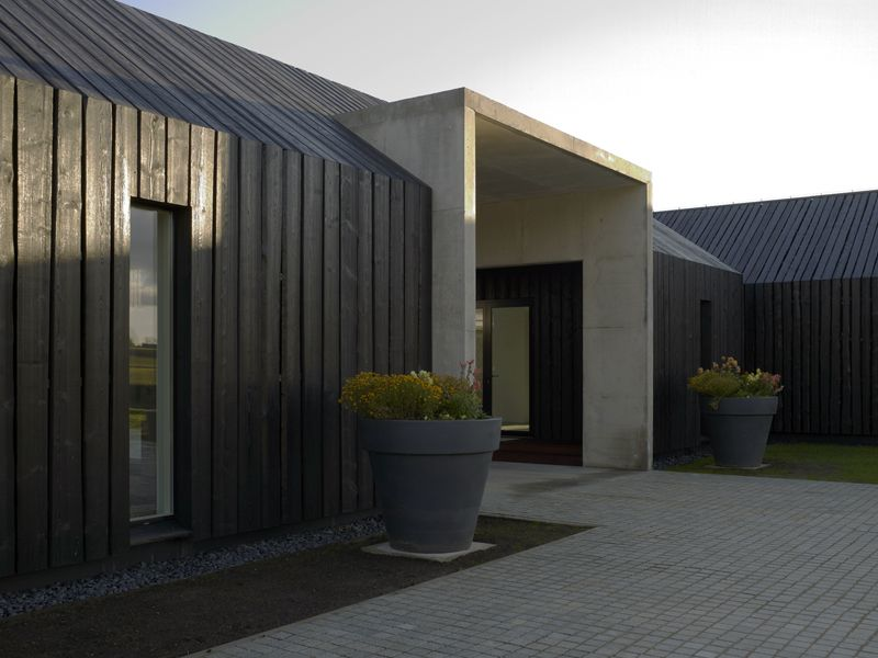 Cascading Charred Timber Cladding