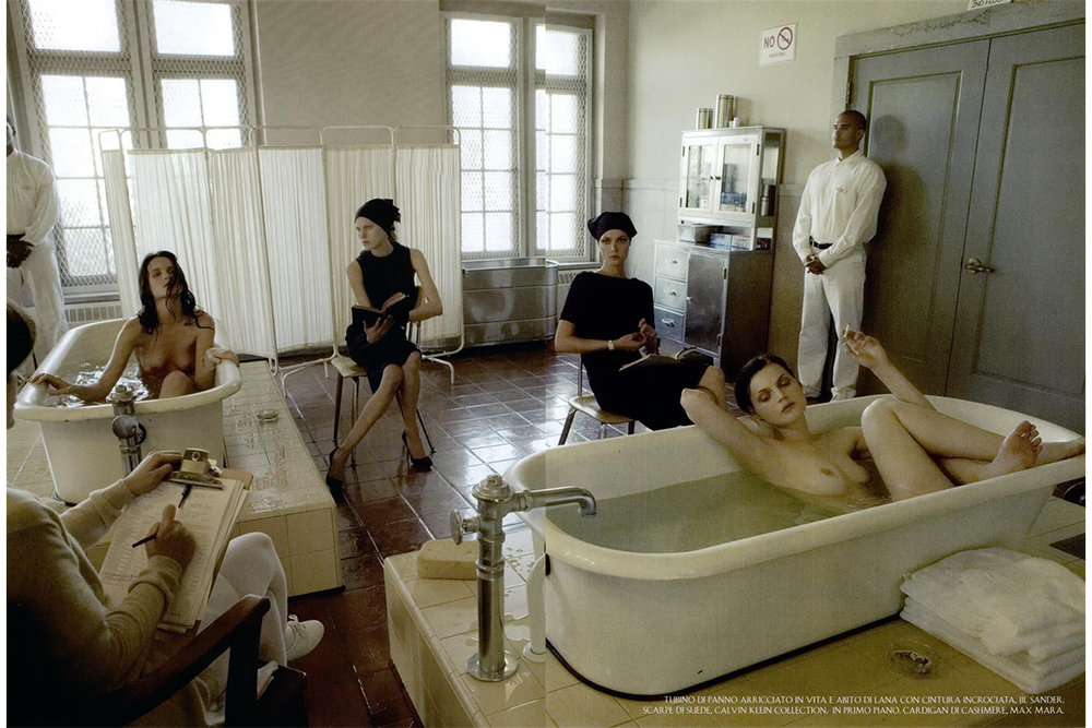 Super Mods Enter Rehab by Steven Meisel for Vogue Italia, 2007.