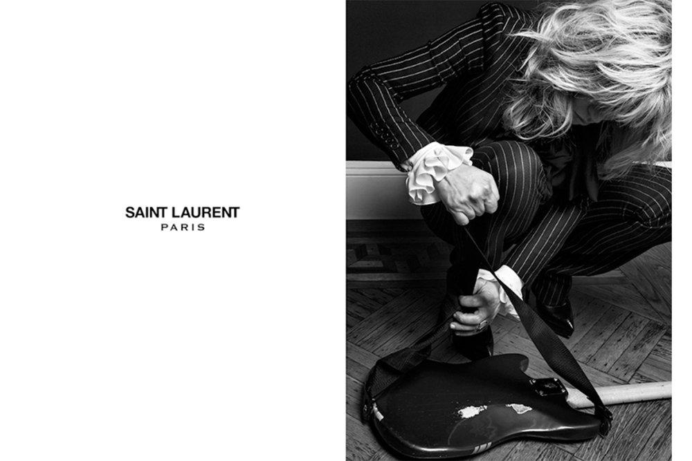 Courtney Love for Saint Laurent Paris S/S 2013 by Hedi Slimane.