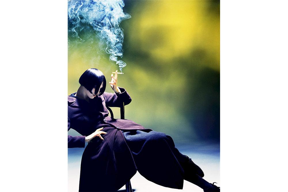 'Susie Smoking' by Nick Knight for Yohji Yamamoto, 1988.