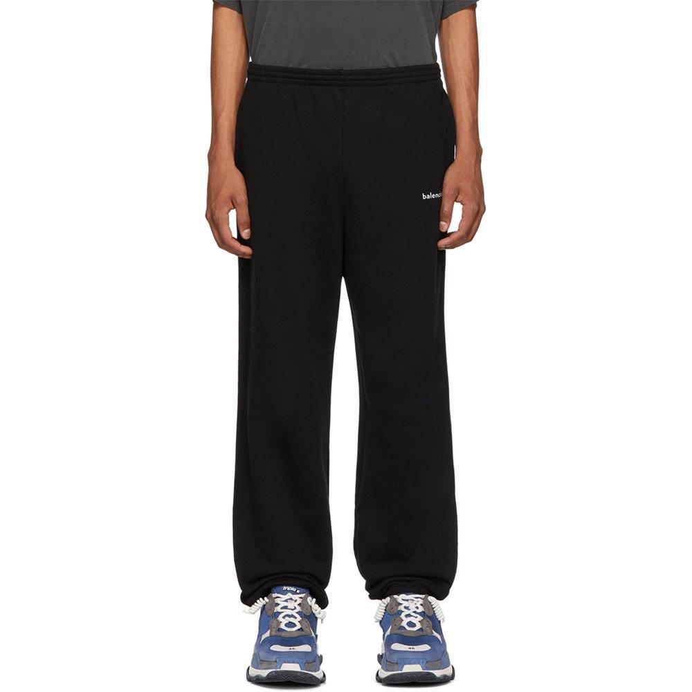 Balenciaga Black Logo Lounge Pants