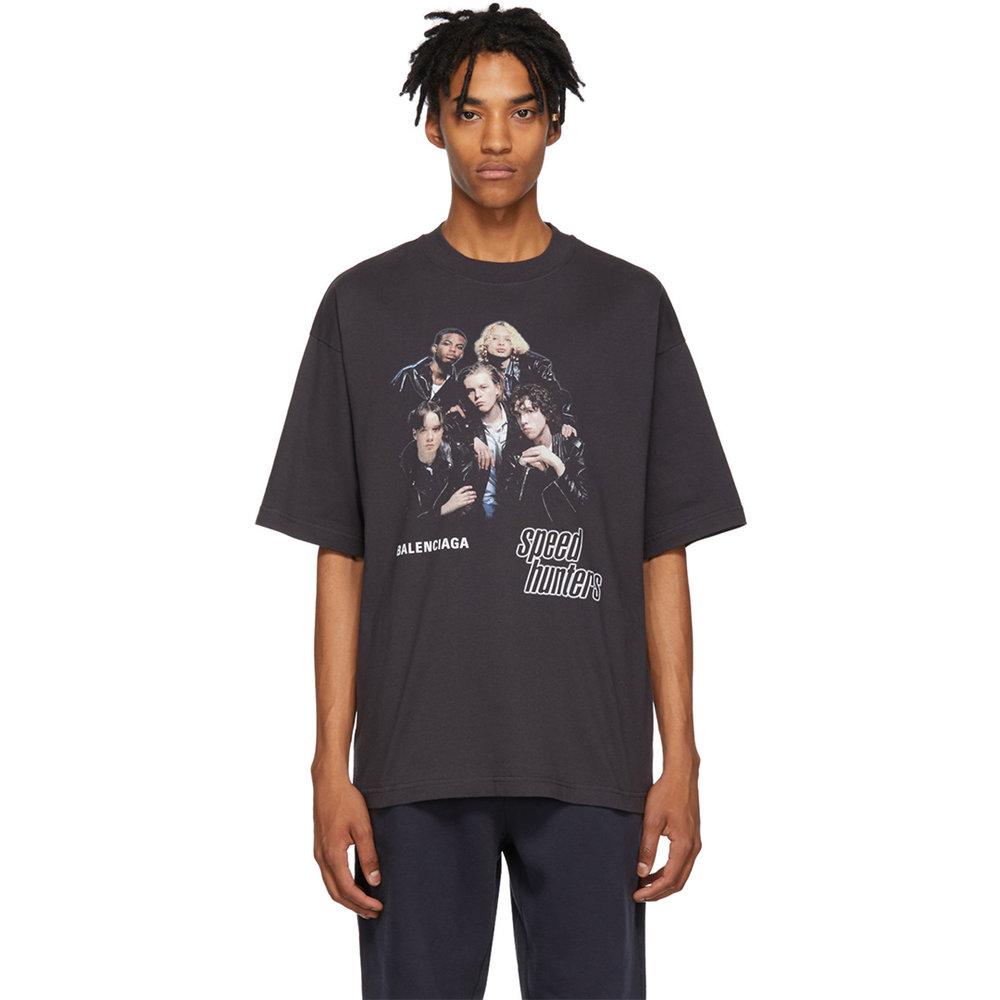 Balenciaga Black 'Speedhunters' T-Shirt