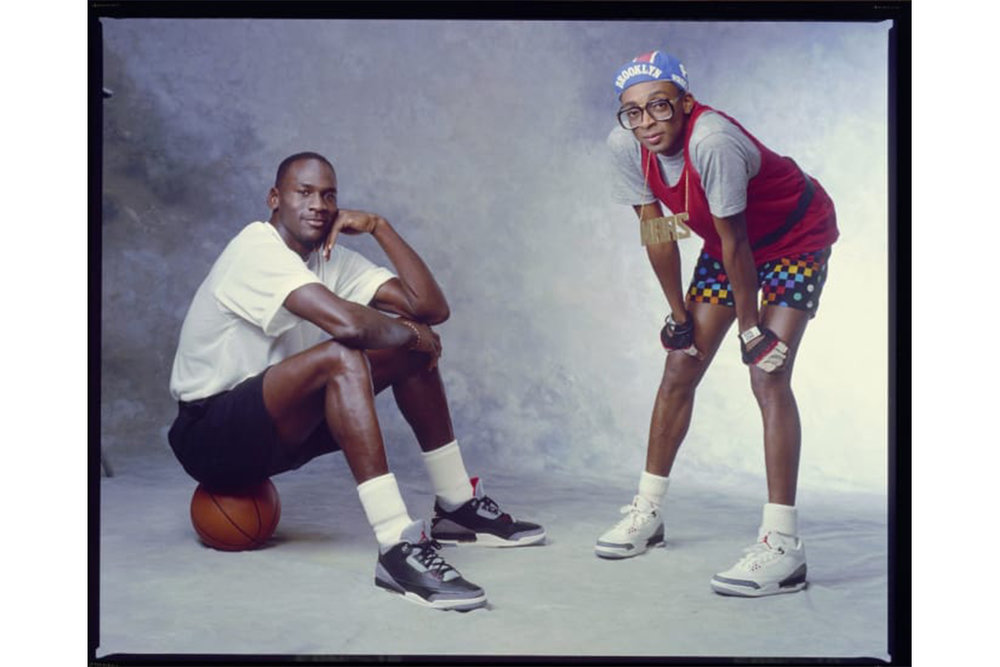 Michael Jordan pictured with Spike Lee, both wearing Air Jordan 3's. Photo: Complex