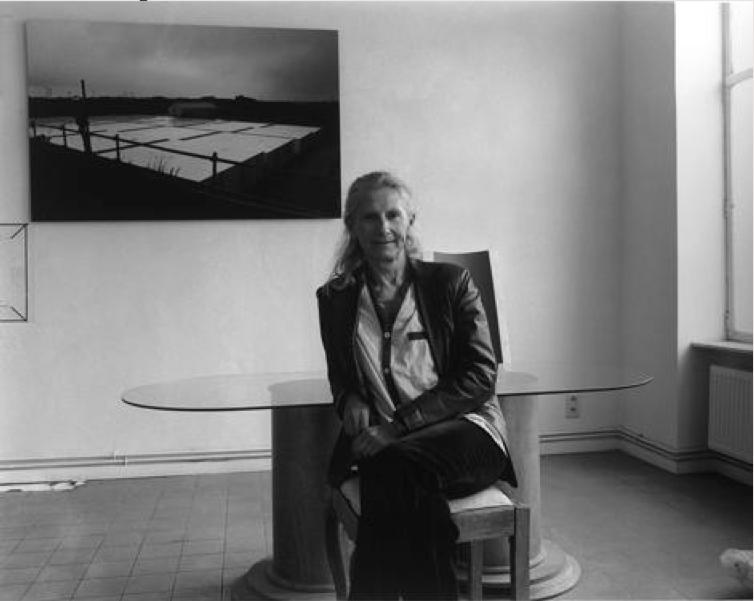 Cécile Massart dans son atelier à Bruxelles © Raymond Saublains