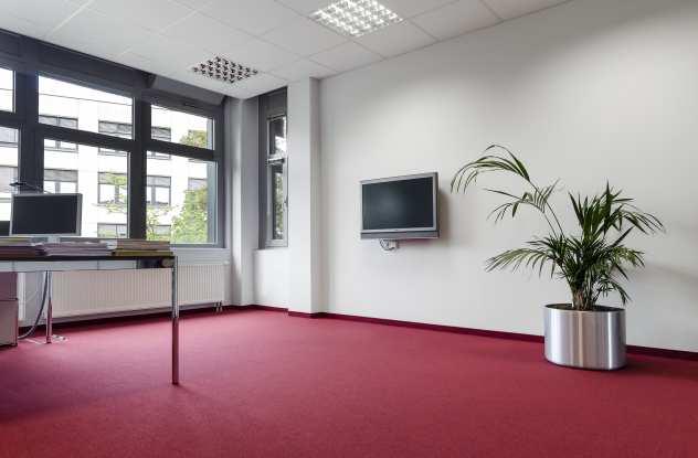 Doppelbodensanierung Düsseldorf Versicherung Doppelboden aus Holzwerkstoff modern rot.jpg