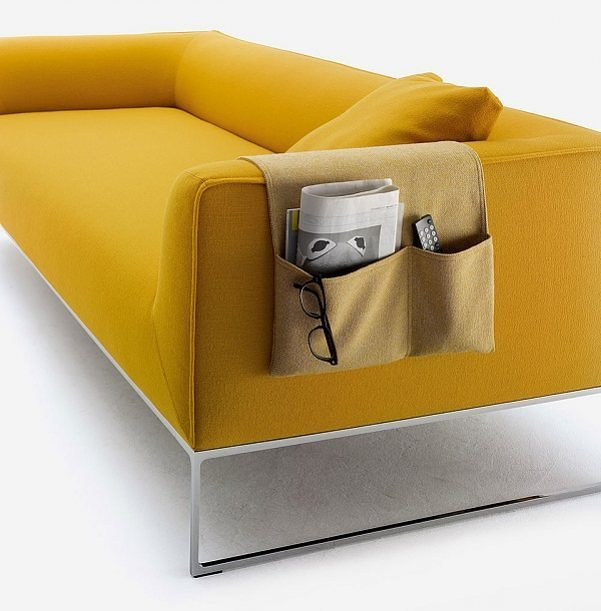 Bag Stofftasche für Sofa von COR. Zwei Fächer für alle Fälle. Die neue Bag Stofftasche macht sich nicht nur auf der Armlehne des Mell Sofas gut.  Kaufen Sie jetzt auf MakeYourHome.de  #Tipps #Ideen #Wohnen #Design #Interior #InteriorDesign #Dekoration #Art #Deko #deutschland #Germany #düsseldorf #berlin #hamburg #dortmund #essen #frankfurt #dresden #leipzig #stuttgart #bremen #münchen #Mönchengladbach #cologne
