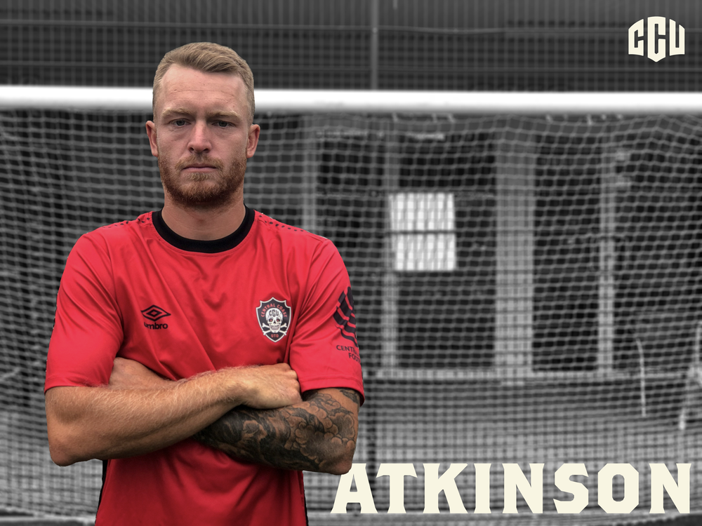 Corey Atkinson:      Junior Club:  Berkeley Vale Wombats   First Grade Debut:  Berkeley Vale, age 17, under head coach Stu Davis   Playing History:  3 seasons in the NPL at Valentine, 1 season at Charlestown   Last Played For:  The Entrance, First Grade     2019 will see Corey Atkinson join Central Coast United and once again play under head coach Stu Davis, with whom he made his 1st Grade debut for at the age of 17 at Berkeley Vale. Atkinson is looking forward to a new season and challenge after a season back in local competition, and will be rejoining a number of former team members and opponents in CCU's 2019 squad.