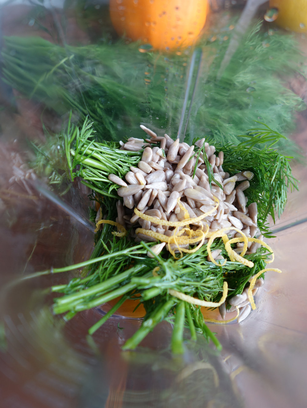 pine nuts and dill