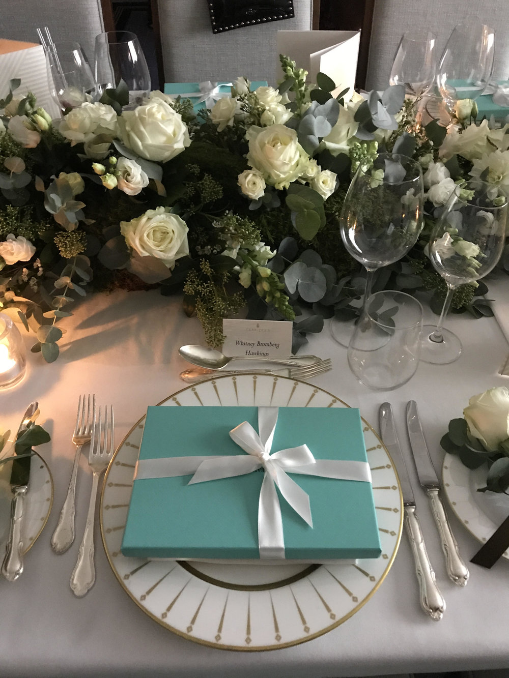 Tatler UK X Tiffany and Co X FLOWERBX dinner at Claridges Hotel