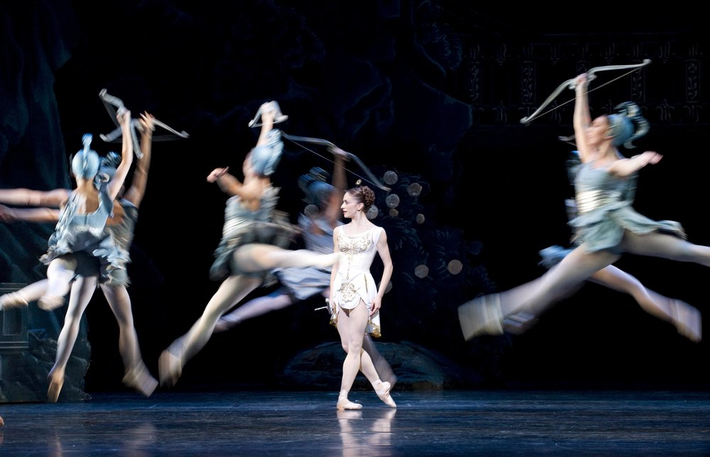 Marianela Nunez and Artists of The Royal Ballet in Sylvia c Tristram Kenton ROH 2010.jpg