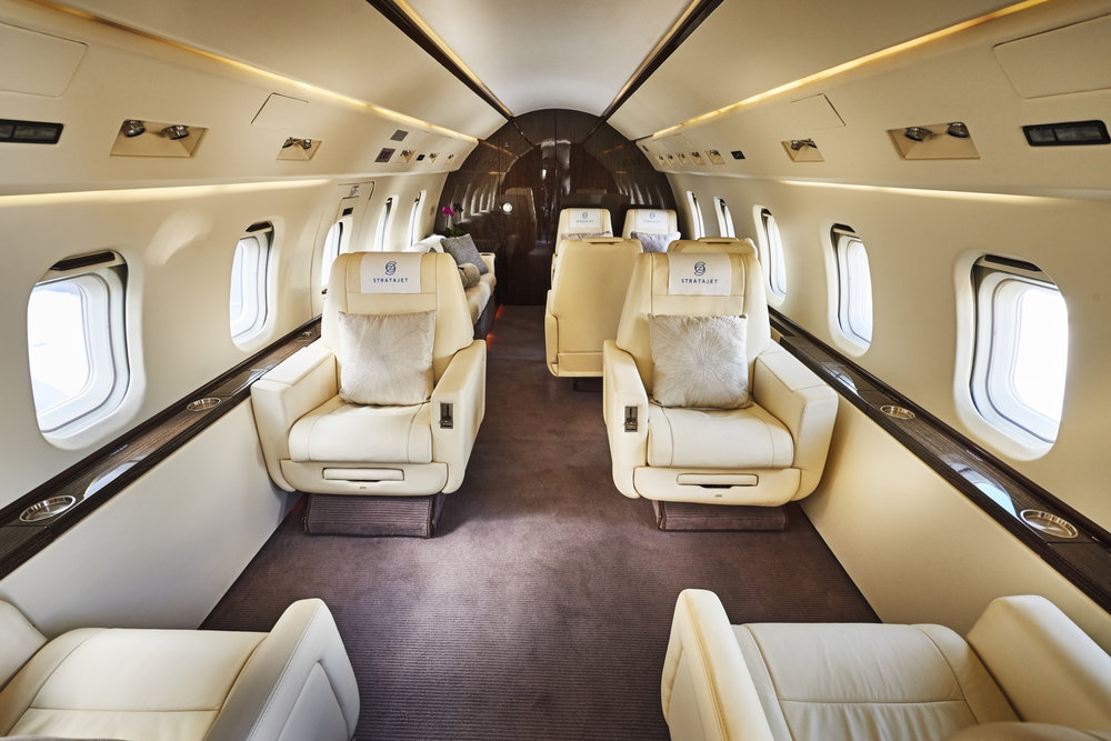Stratajet - private jet interior
