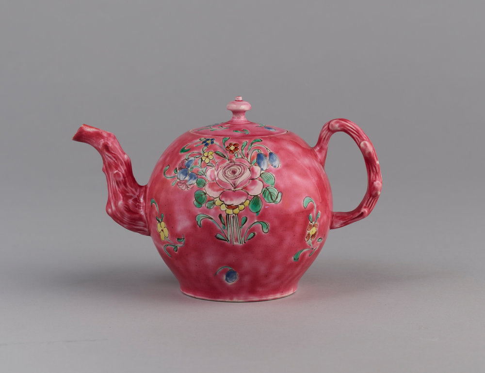 Staffordshire salt glazed tea pot and cover, Haughton Gallery