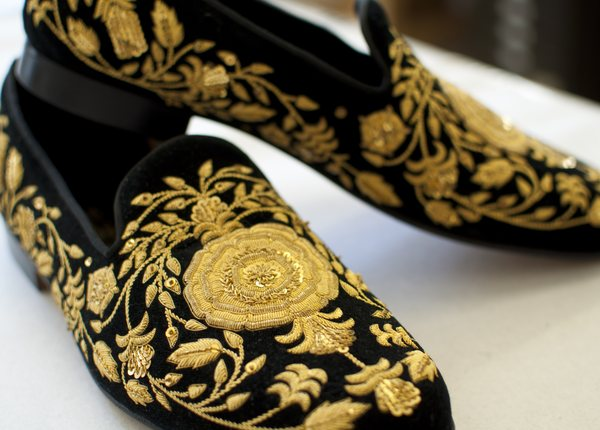 Slipper Embroidery | Hand & Lock at Edward Green