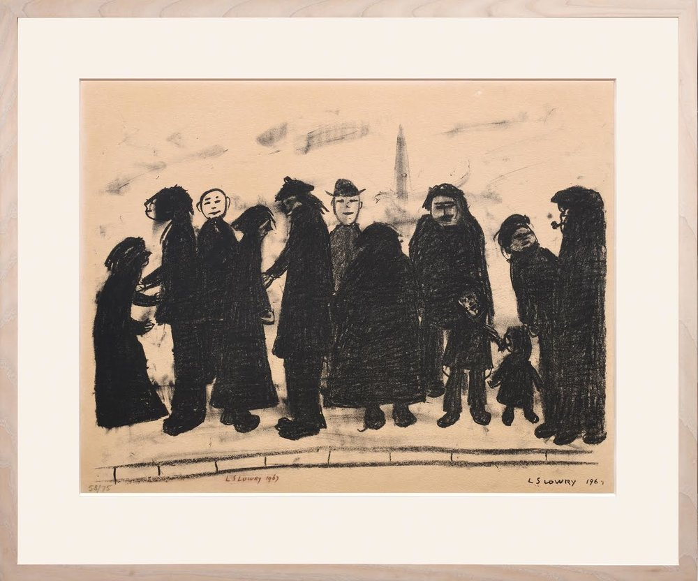 'Shapes & Sizes', L.S. Lowry, 1967-68 | Cover image: 'Going to the match', L. S. Lowry, 1928