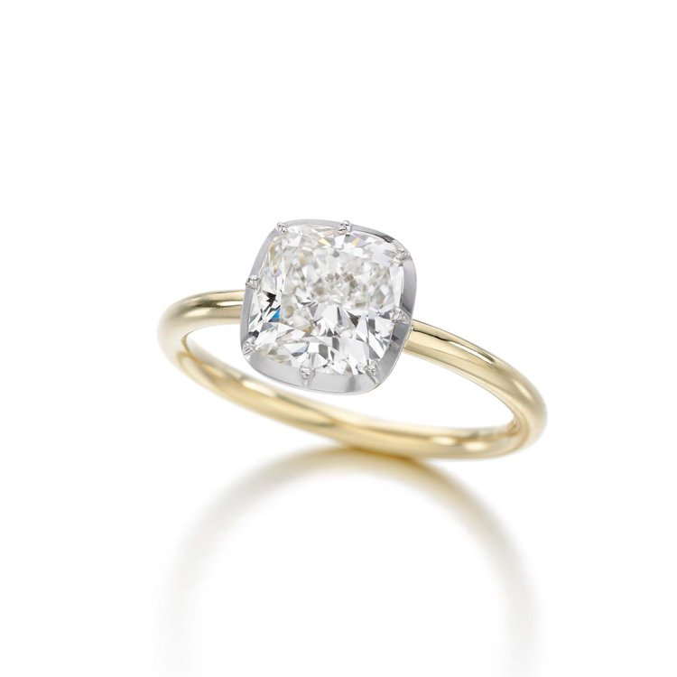 Cushion Cut-Down Ring