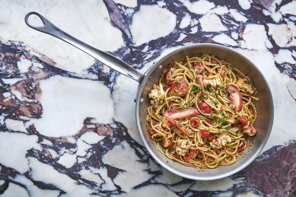 Daphne's - Spaghetti with lobster by Jean Cazals.jpg