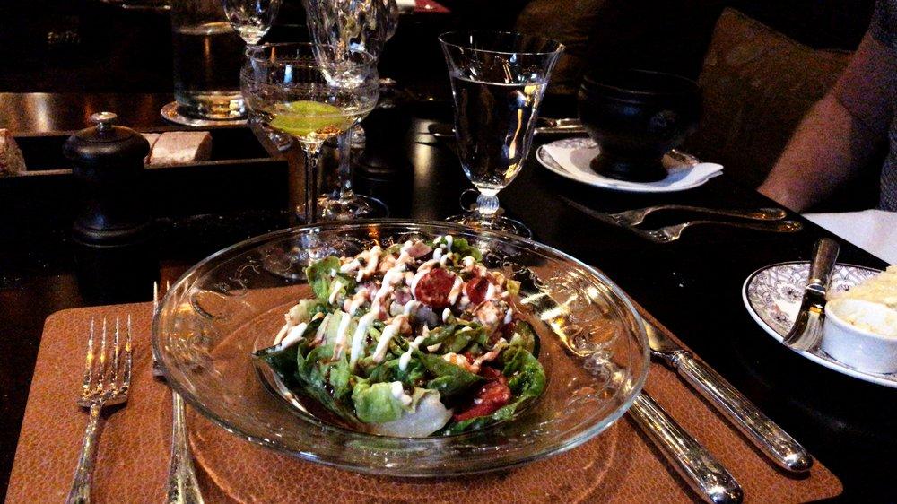 Greek salad, gem lettuce, barrel aged feta