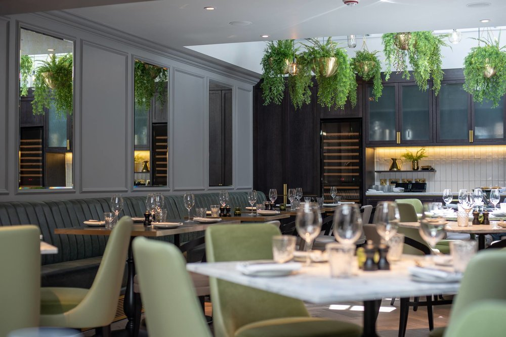 The restaurant space is stylish, spacious and beautiful