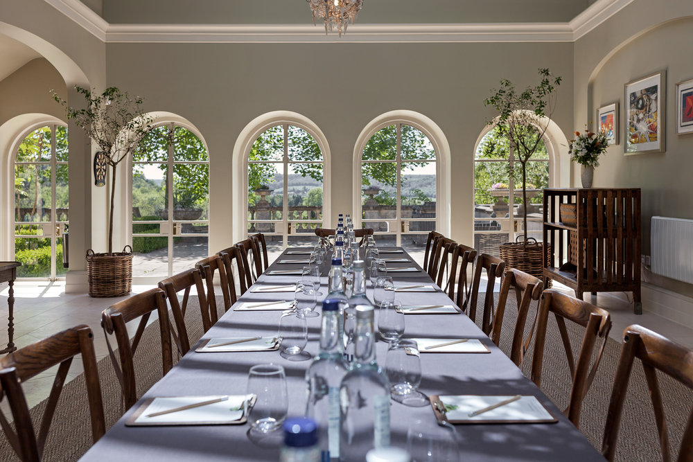 The Orangery Boardroom set up