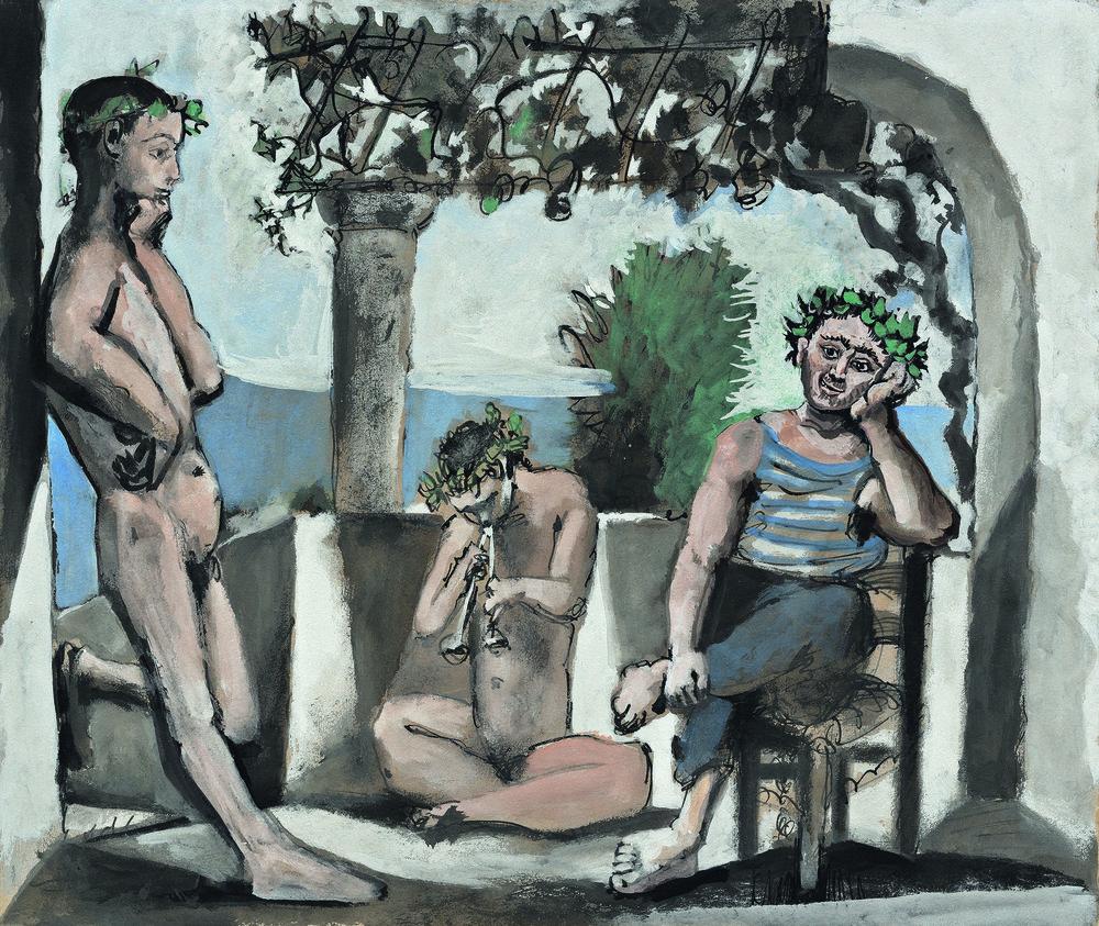 Lot 4 Pablo Picasso, Le repos du faune, est. £1,600,000-2,500,000