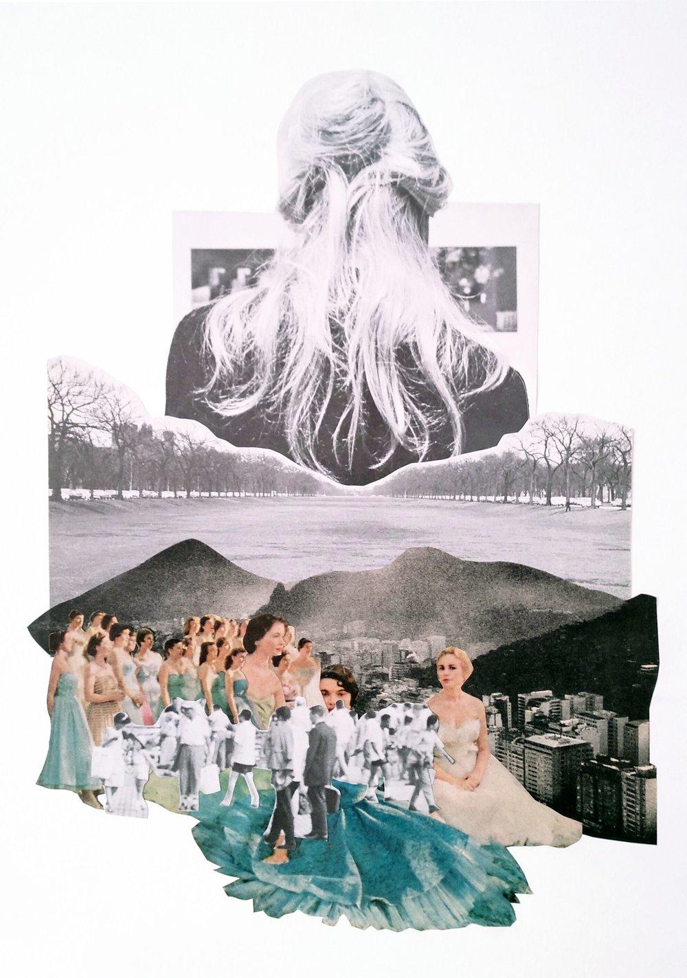 Rocio Romero - 'Feria' PaperCollage, 11,70W x 16,53H, £450