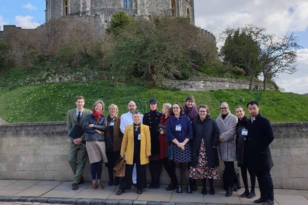 theCoLAB staff and the artists at Windsor Castle, 2019