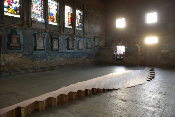 Joanna Sands, Untitled, the Asylum Chapel,plywood, 2014, photo by AK Purkiss