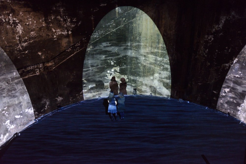 Lynn Dennison,  Sweet Thames, run softly till I end my song , installation for the Rotherhithe Shaft, 2015