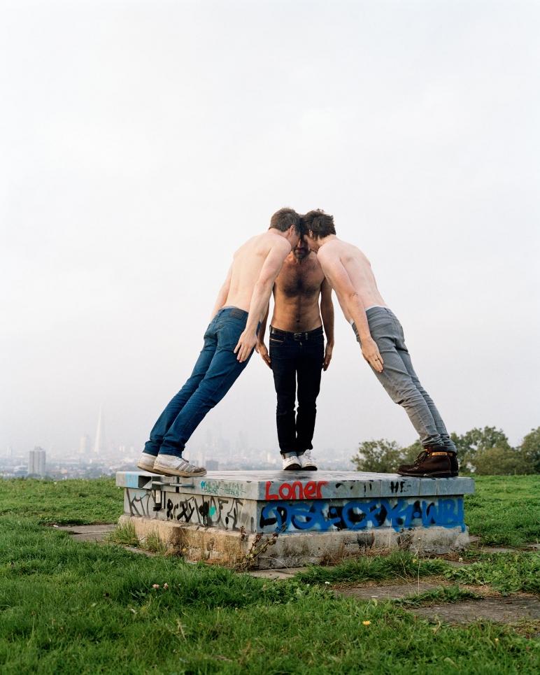 JocJonJosch / Head to Head, 2014, Temporary sculpture and video documentation