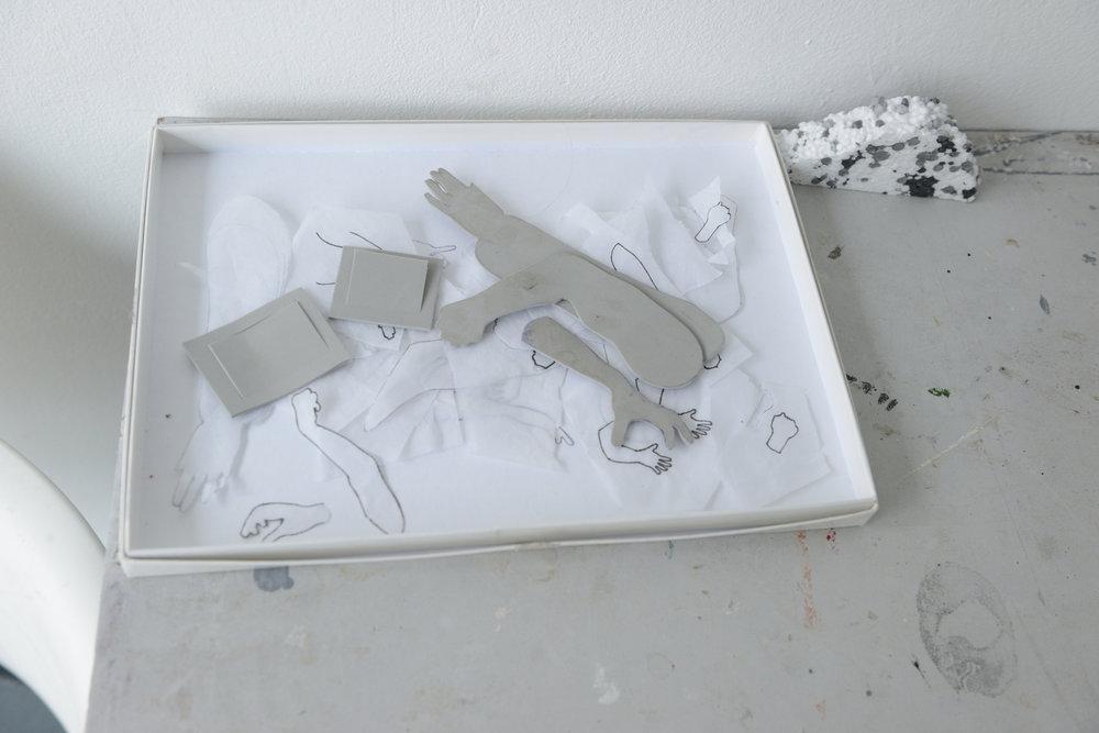 A gestural cut out
