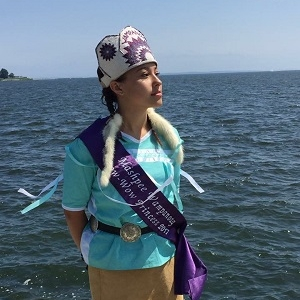 Chenoa Peters, Mashpee Wampanoag Powwow Princess 2017-2018 - read more about this year's powwow princess