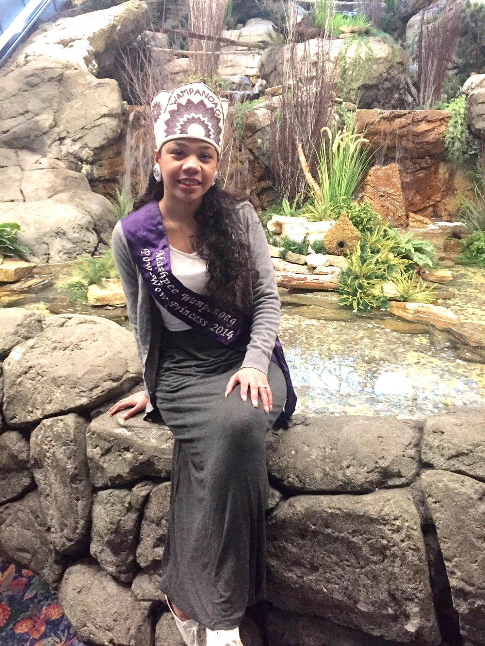 Sassamin Renee Weeden , Mashpee Wampanoag Powwow Princess 2014-2015