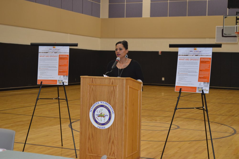Cheryl Frye-Cromwell of the Mashpee Wampanoag Tribal Council in Massachusetts announced an opioid outreach campaign last week, supported by HRSA's Region One staff in Boston. The deaths in 2016 of 11 young members of the tribe prompted Frye-Cromwell to reach out to HRSA.